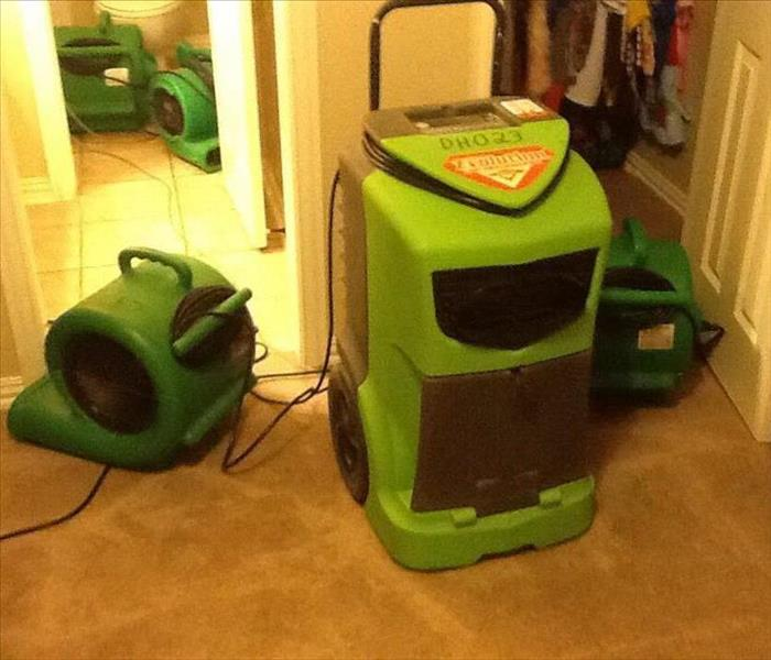 Dehumidifiers and Air Movers
